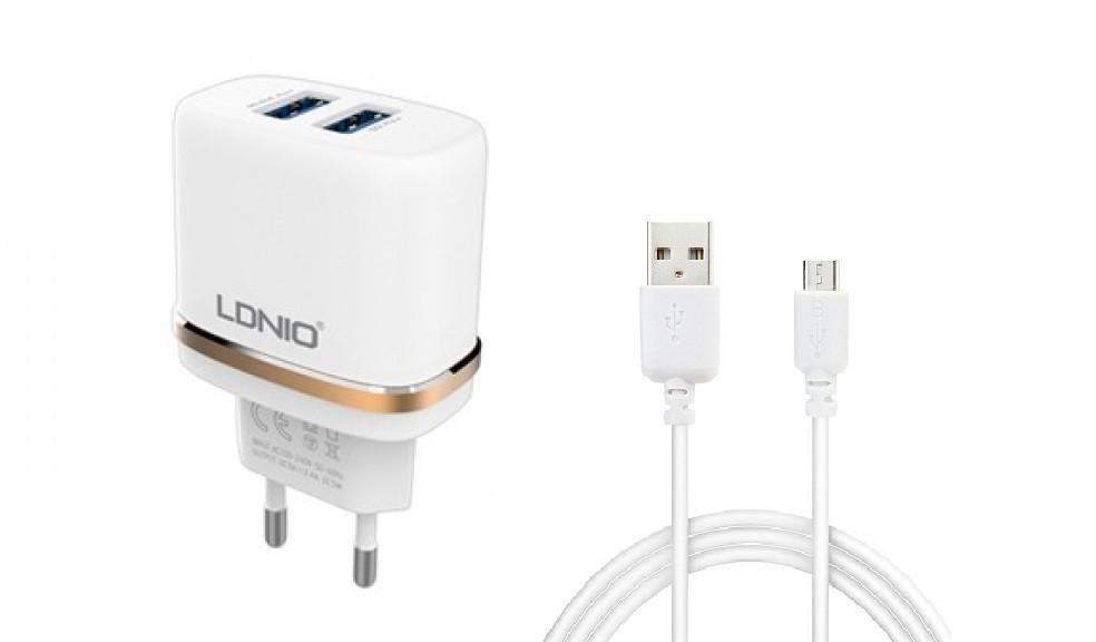 Зарядное устройство LDNIO Micro USB DL-AC52