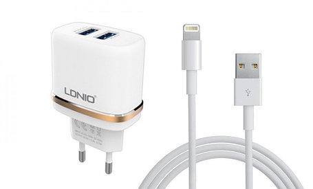 Зарядное устройство LDNIO Lightning USB DL-AC52, фото 2