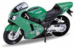1/18 Welly Масштабная модель мотоцикла Kawasaki Ninja ZX-12R 2001