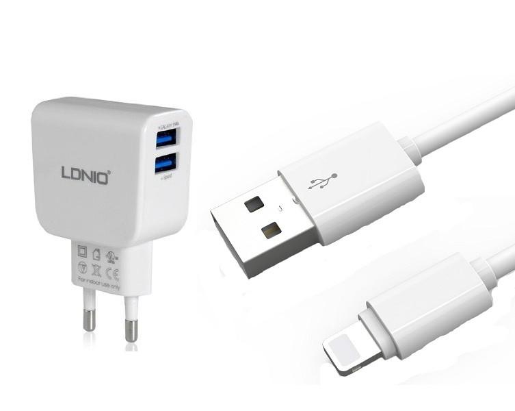 Зарядное устройство LDNIO Lightning USB DL-AC56