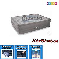 Двухспальный надувной матрас Intex 66958, размер 203х152х46 см, фото 1