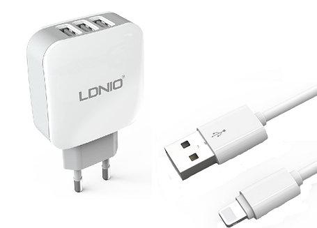 Зарядное устройство LDNIO Lightning USB DL-AC70, фото 2