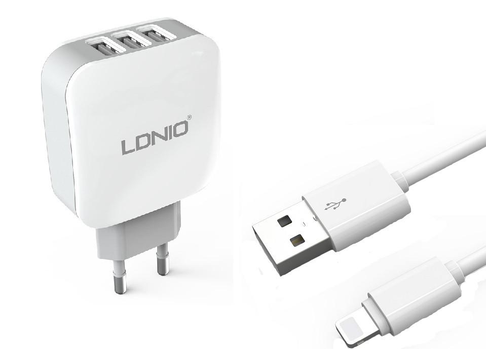 Зарядное устройство LDNIO Lightning USB DL-AC70