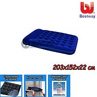 Двухспальный надувной матрас Bestway 67226, размер 203х152х22 см, фото 1