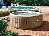 Intex СПА-бассейн Bubble Massage 145/196х71см, круглый с круговым пузырьковым массажем, фото 2