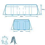 Каркасный бассейн Prism Frame 400х200х100 см, 6836 л, фильтр-насос 2006л/ч, лестница, фото 6