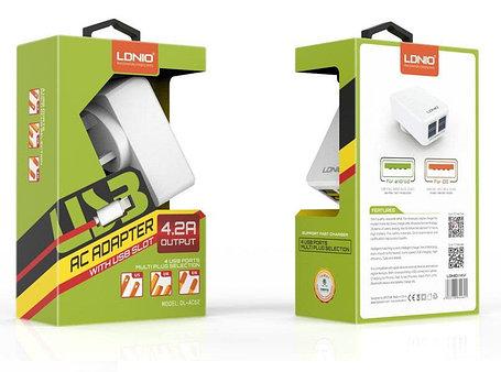 Зарядное устройство LDNIO Lightning USB DL-AC62, фото 2