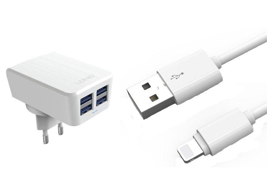 Зарядное устройство LDNIO Lightning USB DL-AC62