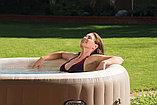 Intex СПА-бассейн Bubble Massage 165/216х71см, круглый с круговым пузырьковым массажем, фото 3