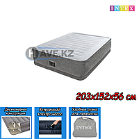 Двухспальный надувной матрас Intex 64418, размер 203х152х56 см, фото 1