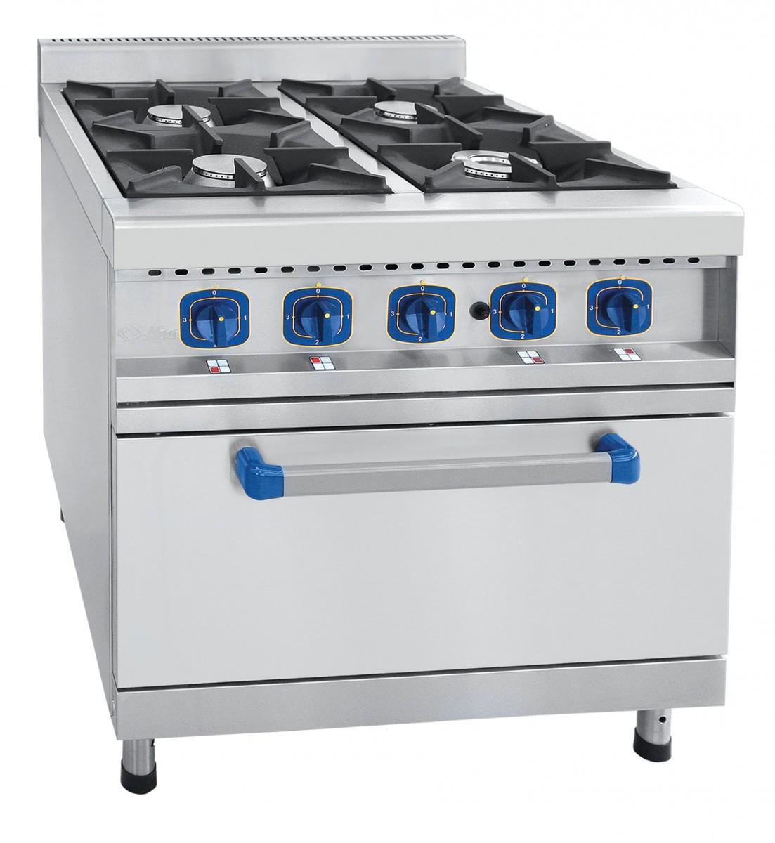 Газовая плита четырехгорелочная с духовкой (газовой) ПГК-49ЖШ Ават