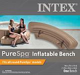 Intex Надувная скамья 193х69х34см, для СПА бассейнов Intex, беж., фото 4