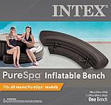 Intex Надувная скамья 193х69х34см, для СПА бассейнов Intex, темн.коричневый, фото 4