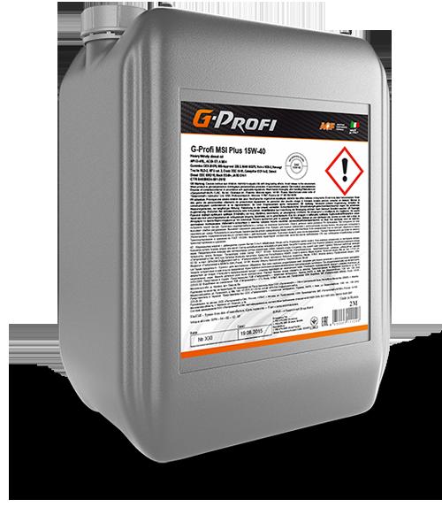 G-Profi MSI Plus 15W-40 дизельное масло Евро-4 20л
