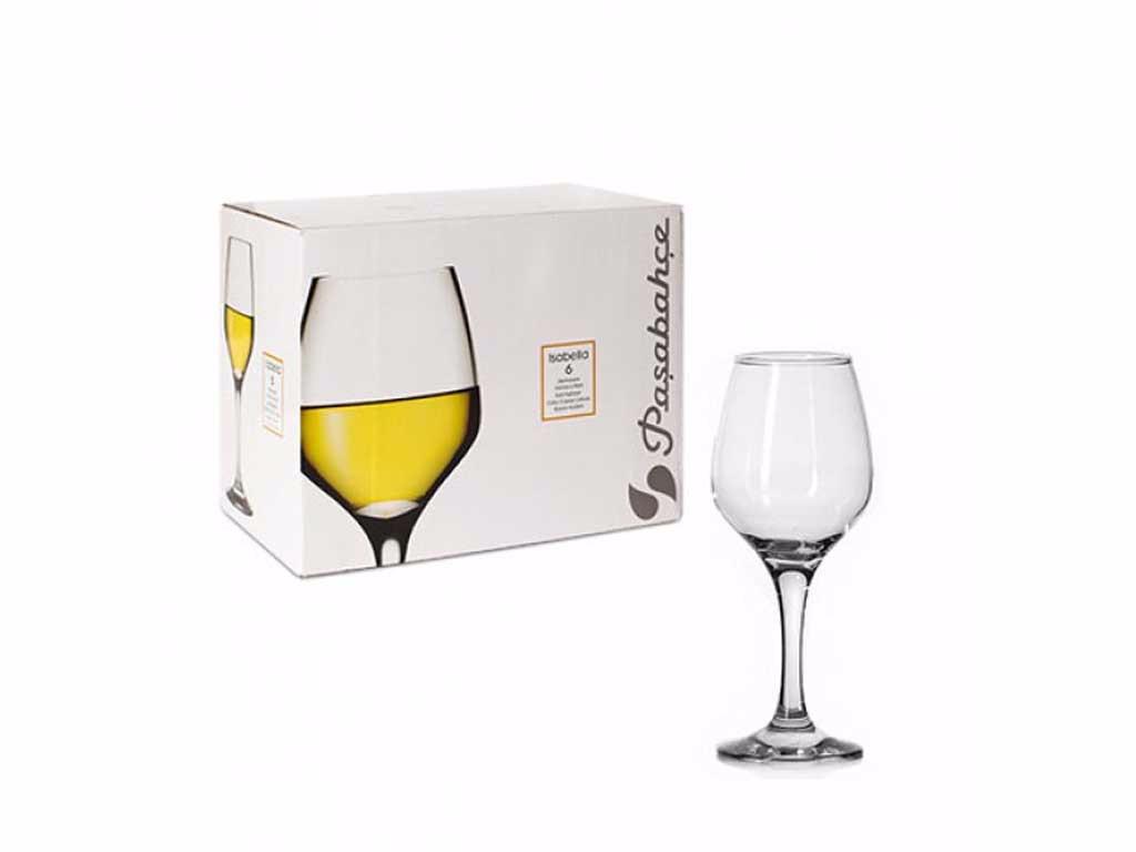 Бокал для вина Pasabahce Isabella Изабелла 400 мл (6шт)