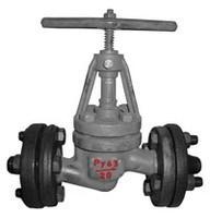 Клапан запорный стальной фланцевый РУ64 15с27нж 15с52нж