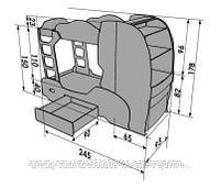 """Двухъярусная кровать-машина """"Скания+2"""" для детей до 15 лет., фото 4"""