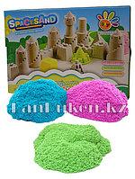 Кинетический песок для детей розовый, синий, зеленый ~ 1,5 кг + игрушки (1 класс)