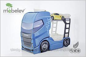 """Двухъярусная кровать-машина """"Скания+2""""для детей до15 лет."""