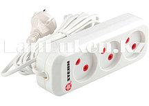 Удлинитель электрический без заземления 3 розетки 2х0,75 мм, 2 метра 6A STERN 95725 (002)