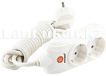 Удлинитель электрический с заземлением и защитными шторками 2 розетки 3х1 мм, 2 метра 10A STERN 95731 (002)