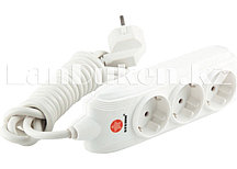 Удлинитель электрический с заземлением и защитными шторками 3 розетки 3х1 мм, 2 метра 10A STERN 95735 (002)