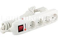 Удлинитель с заземлением, выключателем и шторками 4 розетки 3х1,5 мм, 4 метра 16A STERN 95747 (002)