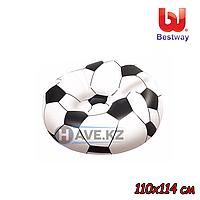 Надувное Кресло-Пуфик Bestway 75010, футбольный (110х114 см), фото 1