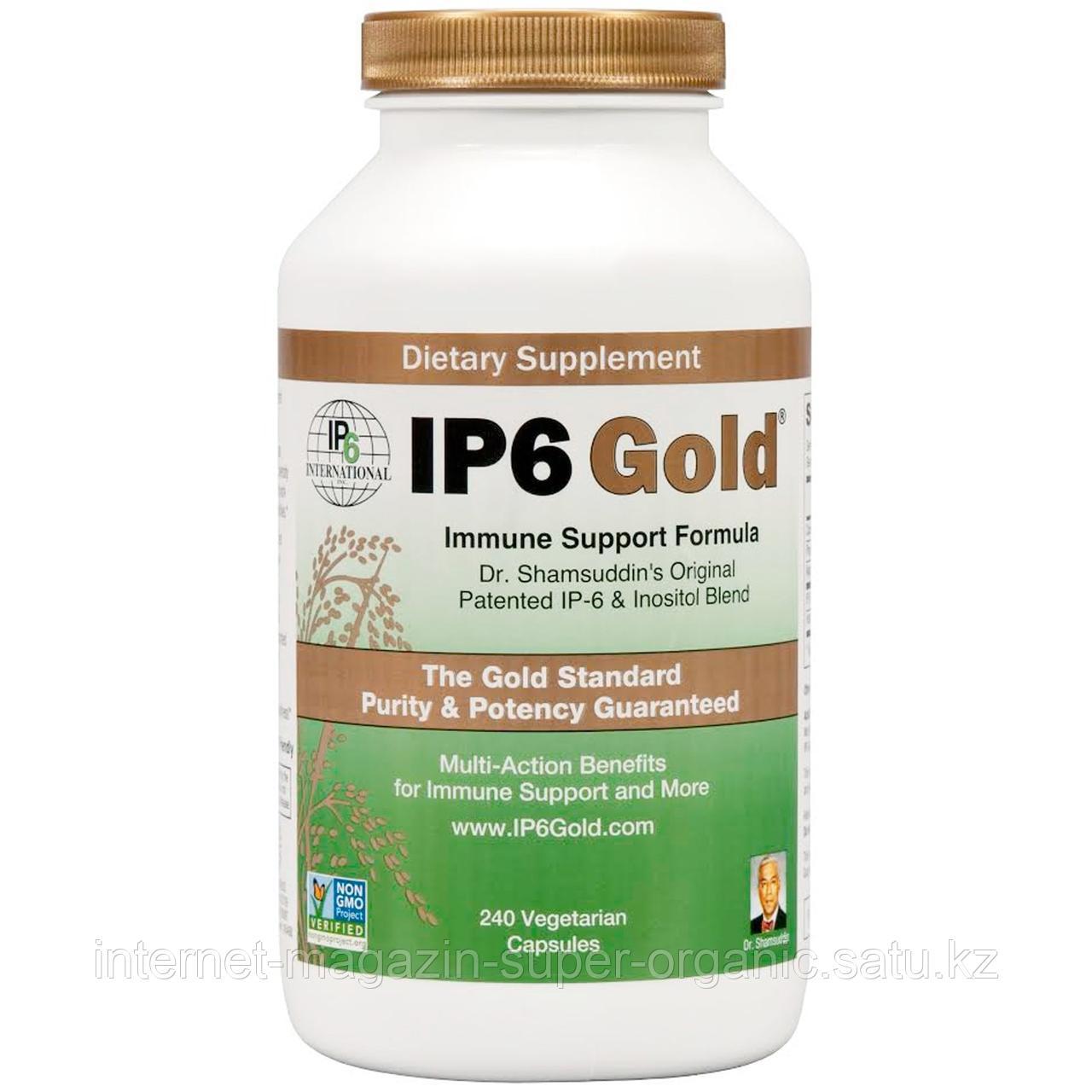 IP6 Gold, формула для поддержки иммунной системы, 240 растительных капсул, IP-6 International