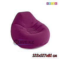 Надувное кресло-пуфик INTEX 68584 - 122х127х81 см, фиолетовый
