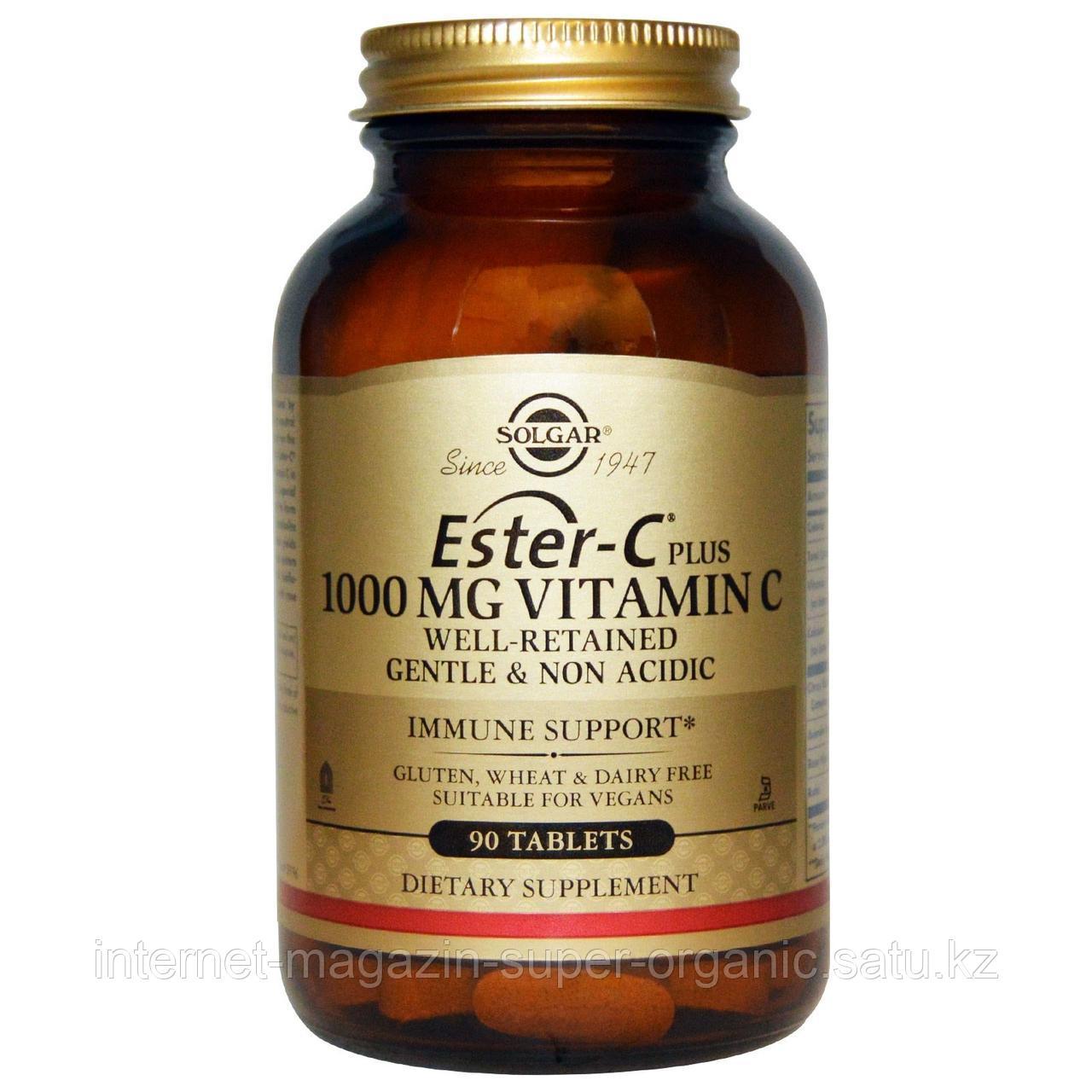 Ester-C Plus, витамин С, 1000 мг , 90 таблеток, Solgar