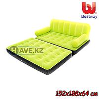 Надувной диван-кровать Bestway 67356, зеленый, размер 152х188х64 см, фото 1