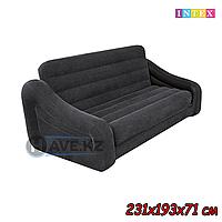 Надувной диван Intex 68566NP, 68566, размер 231х193х71 см, темно-зеленый, фото 1