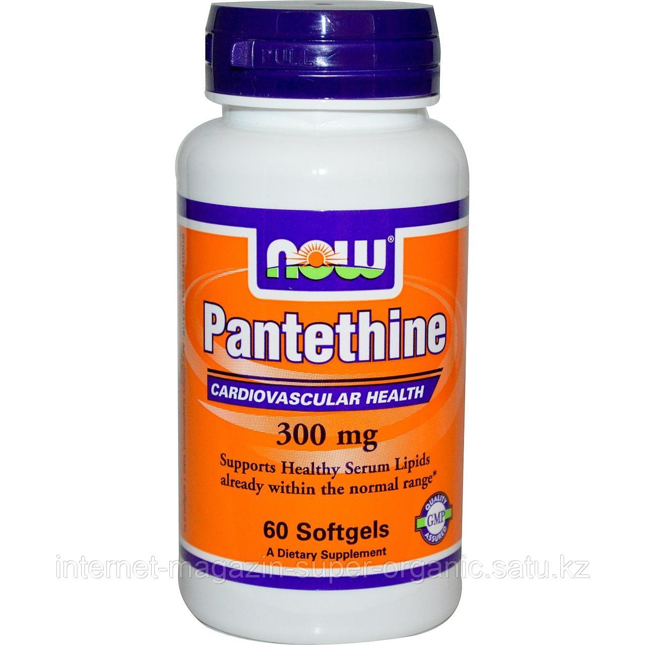 Пантетин, 300 мг, 60 капсул, (Pantethine), Now Foods