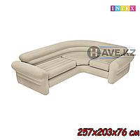 Надувной диван INTEX 68575 - 257х203х76 см, серый, фото 1