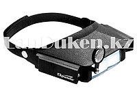 Лупа для закрепления на голове с дополнительными линзами и подсветкой SPARTA 913825 (002)