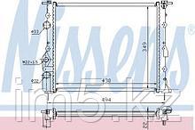 Радиатор Renault Logan 1.4-1.6 Sandero/StepWay 1.4-1.6 Lada Largus 1.6