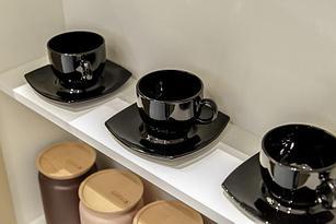 Чайный сервиз Luminarc Quadrato черный 12 пр. E8848