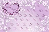 Пресс стена на свадьбу с дизайном по индивидуальному заказу