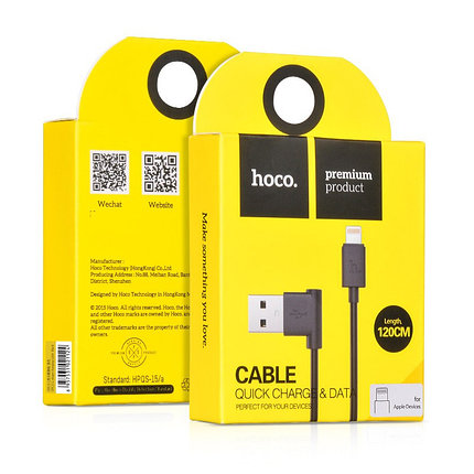 Кабель HOCO UPL11 Lightning USB Black, фото 2