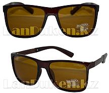 Очки солнцезащитные водительские коричневые (POLAROID)