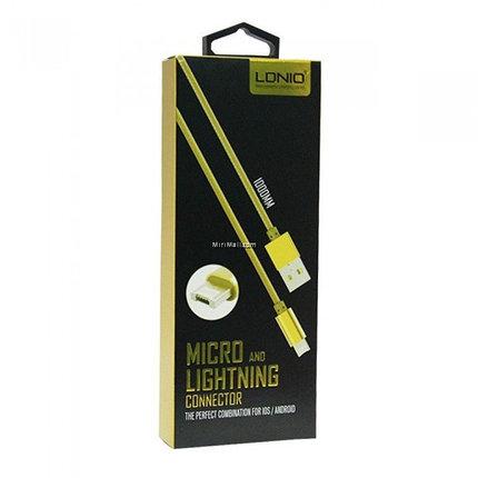 Кабель LDNIO LC88 Micro Lightning USB, фото 2