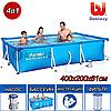 """Прямоугольный каркасный бассейн Bestway """"Steel Pro Frame Pool"""" 56424, 400x200x81 см"""