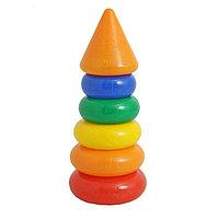 Пирамидка  5 колец с конусом, фото 1