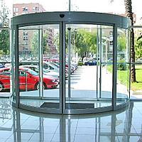 Радиусная автоматическая дверь