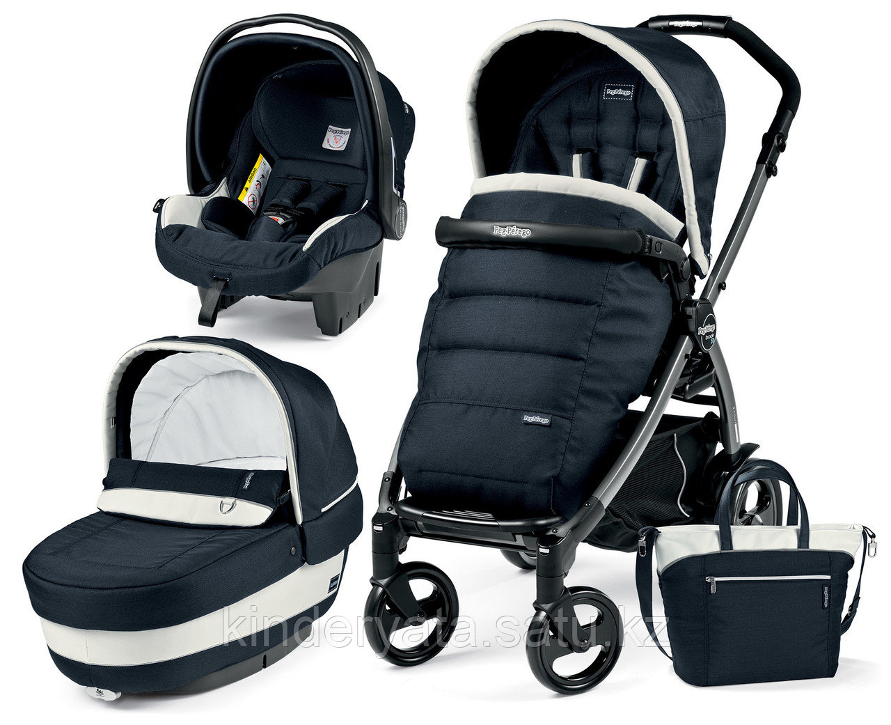 КОЛЯСКА 3 В 1 PEG-PEREGO BOOK PLUS SET MODULAR POP UP (LUXE GREY)