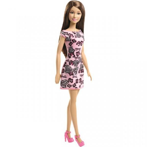 "Barbie ""Стиль"" Кукла Барби Шатенка в розовом платье"