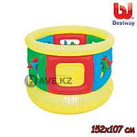 Детский надувной батут Bestway 52056, размер 152 x 107 см