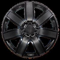 Колпак колесный 14 ГАЛАКСИ черный глянец карбон (4 шт.)