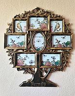 "Фоторамка - коллаж ""Семейное древо"" на 8 фото, в бронзовом цвете, фото 1"